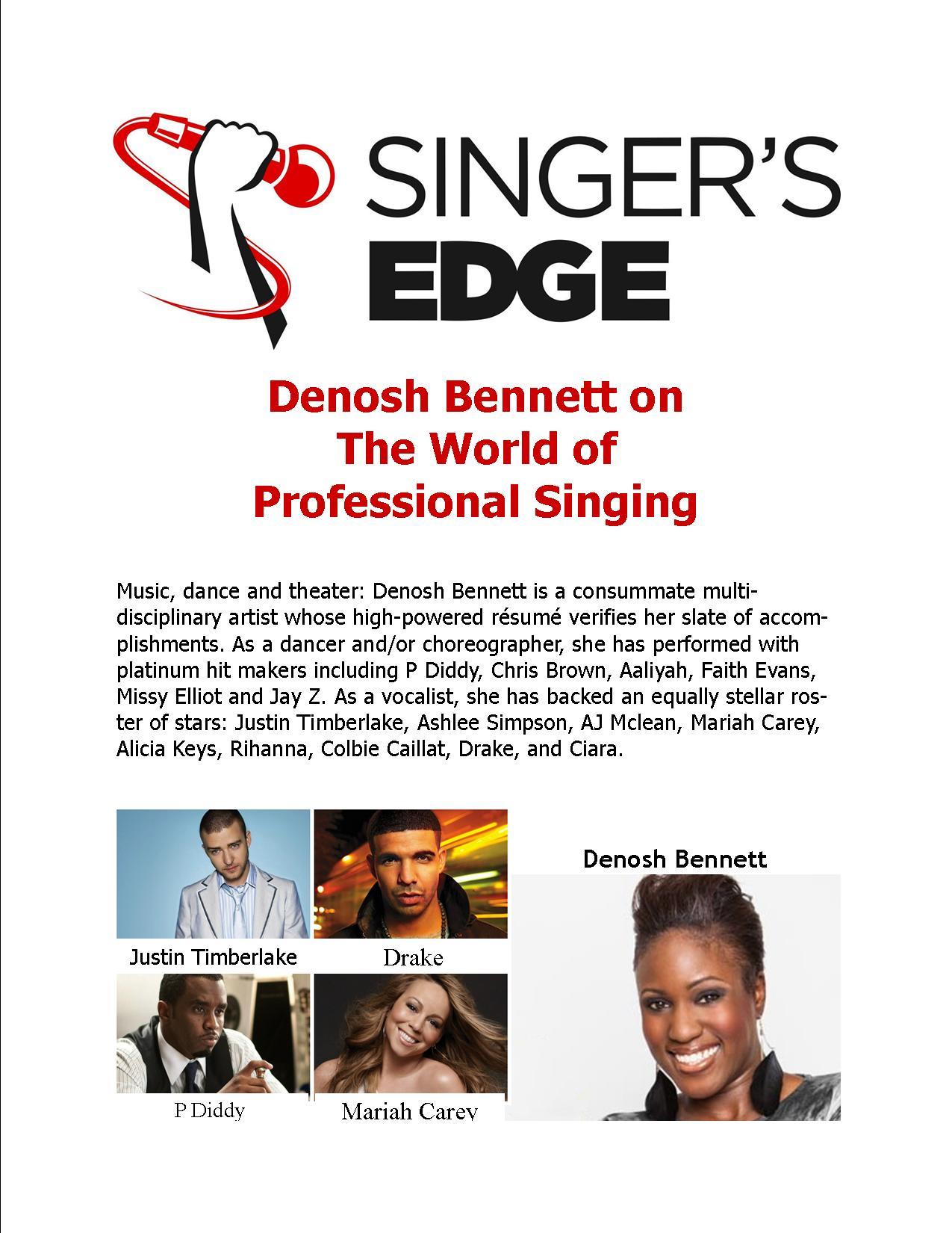 World Of Professional Singing: Denosh Bennett
