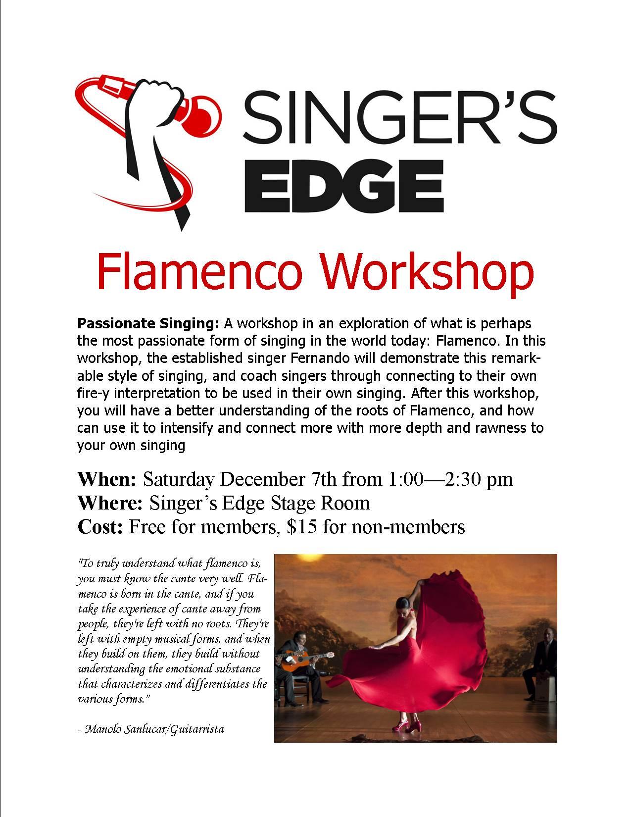 Flamenco: Passionate Singing. Featuring Fernando Gallego Torres